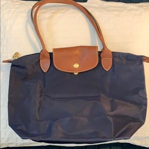 Longchamp Le Pliage Small Navy Tote